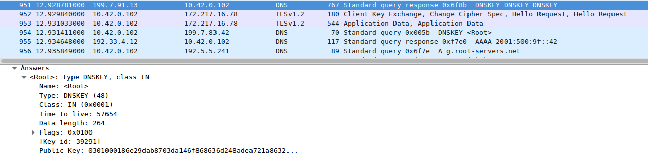 Wireshark: DNSKEY